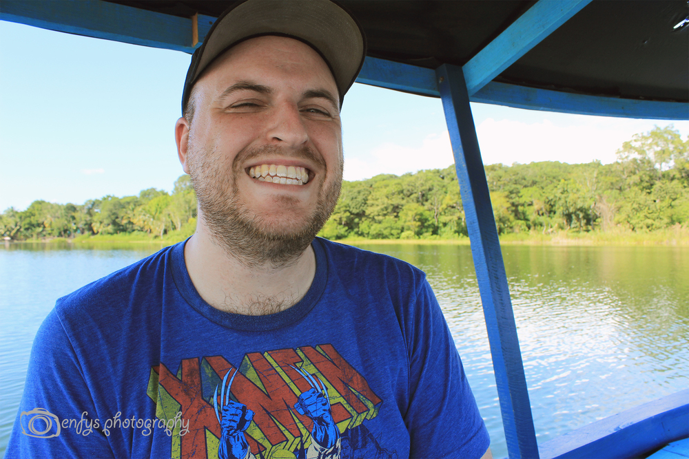 Happy Steve Lake Peten Itza - Flores, Guatemala