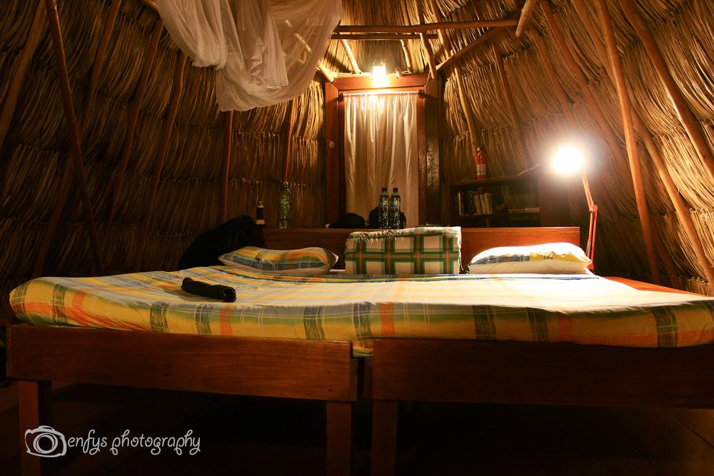 Our cabin Posada del Cerro - El Remate, Guatemala