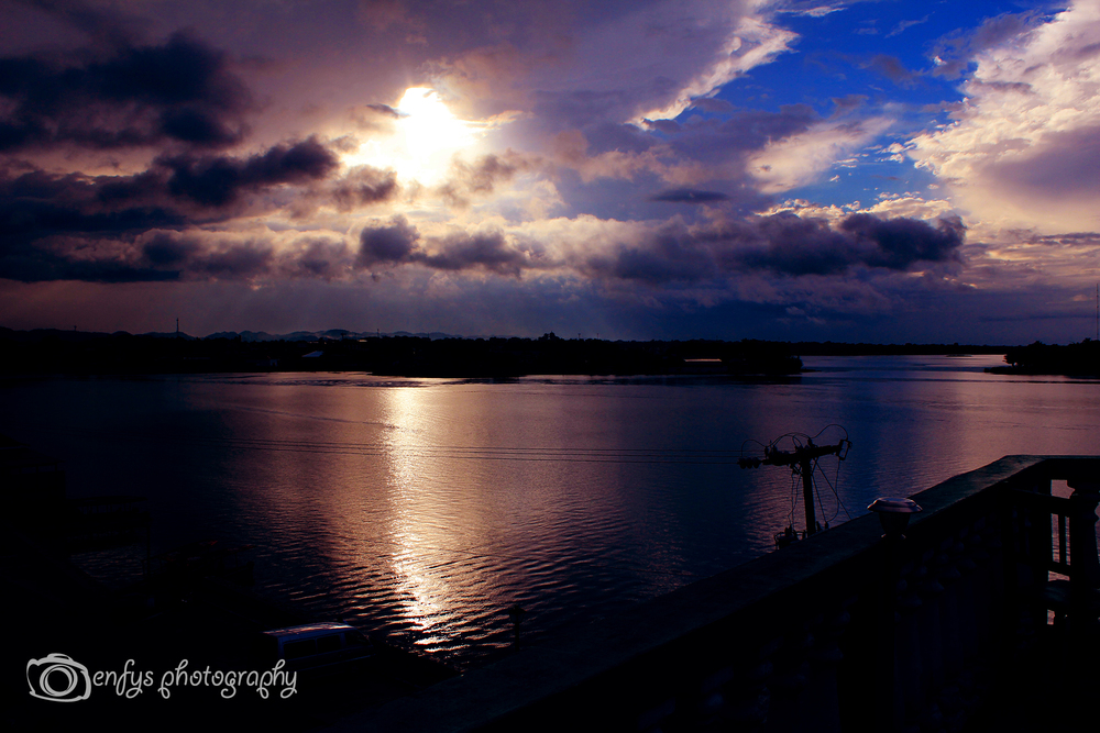 Sunset on the Lake Lake Peten Itsa - Flores, Guatemala
