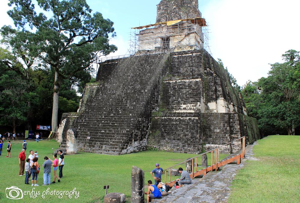 Temple Construction -Tikal National Park