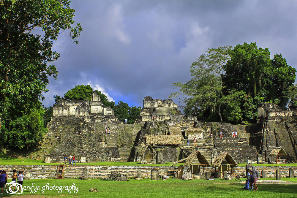 The skies darkened in a matter of minutes and then cleared in less time.  -Tikal National Park, Guatemala