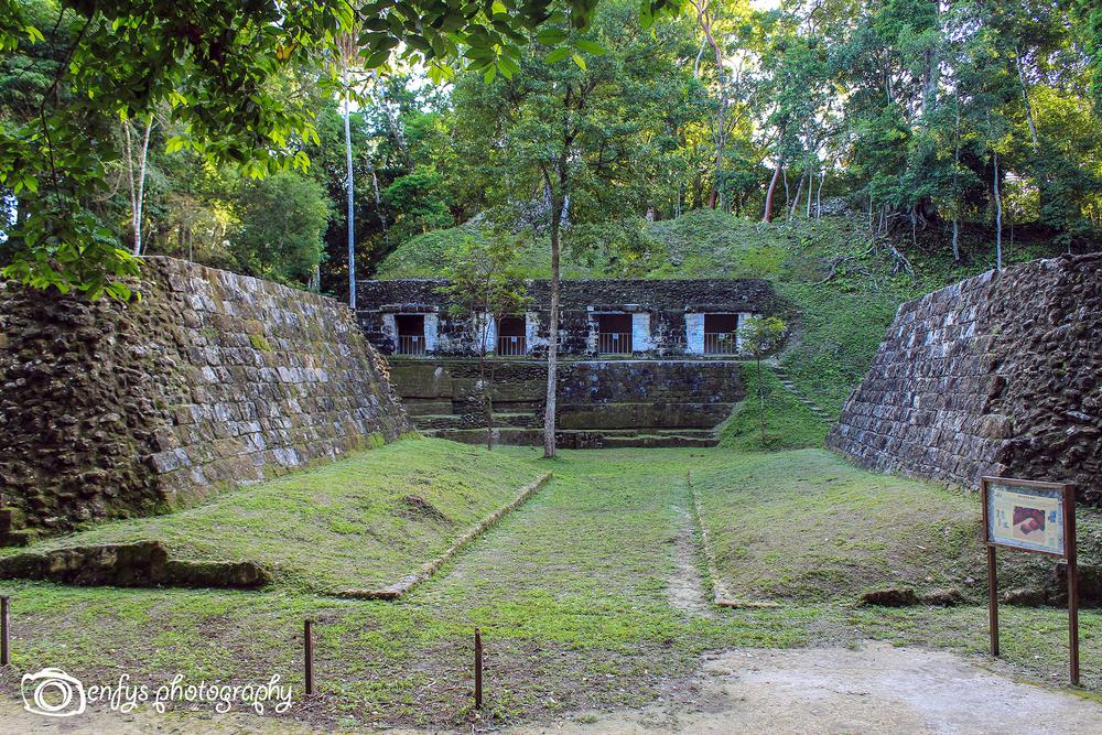 A ball court -Yaxha. Peten, Guatemala