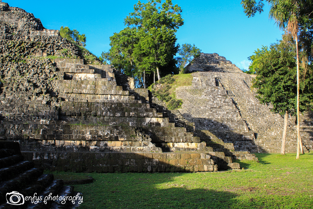 One of the smaller temples we climbed -Yaxha - Peten, Guatemala