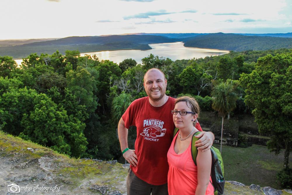 Hot and sweaty, but made it to the top! -Yaxha - Peten, Guatemala