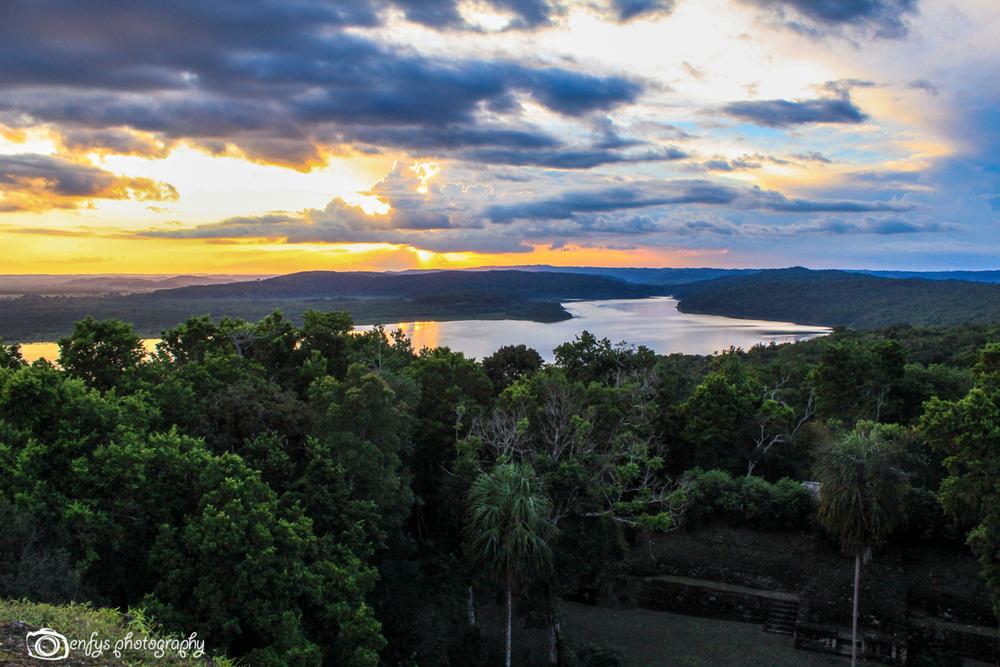 Sunset at Yaxha -Peten, Guatemala