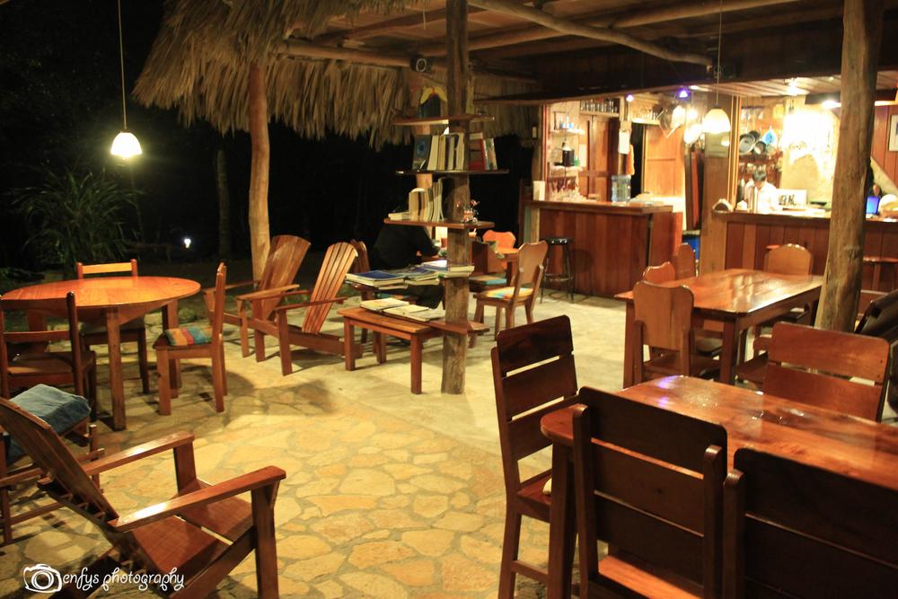 Restaurant at Posada del Cerro  -El Remate, Guatemala