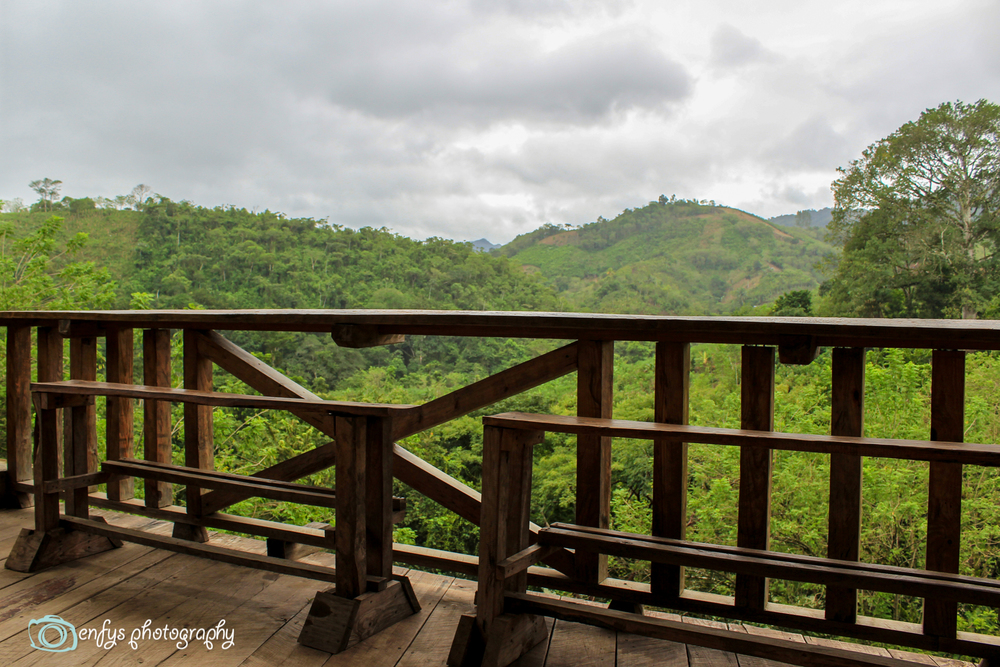 The view from the deck (Click to enlarge) -Utopia Eco Hotel -Alta Verapaz, Guatemala
