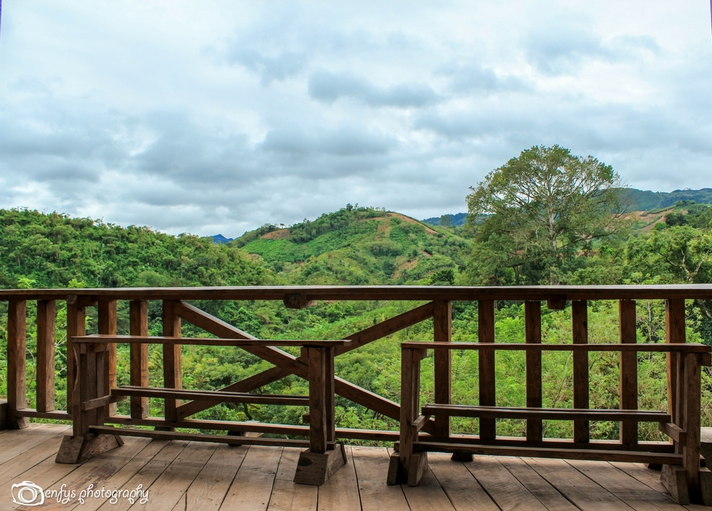 This view surrounded the entire lodge, rolling green hills for as far as you could see! The weather is constantly changing, these three photos were all taken while we ate breakfast! -Utopia Eco Hotel -Alta Verapaz, Guatemala