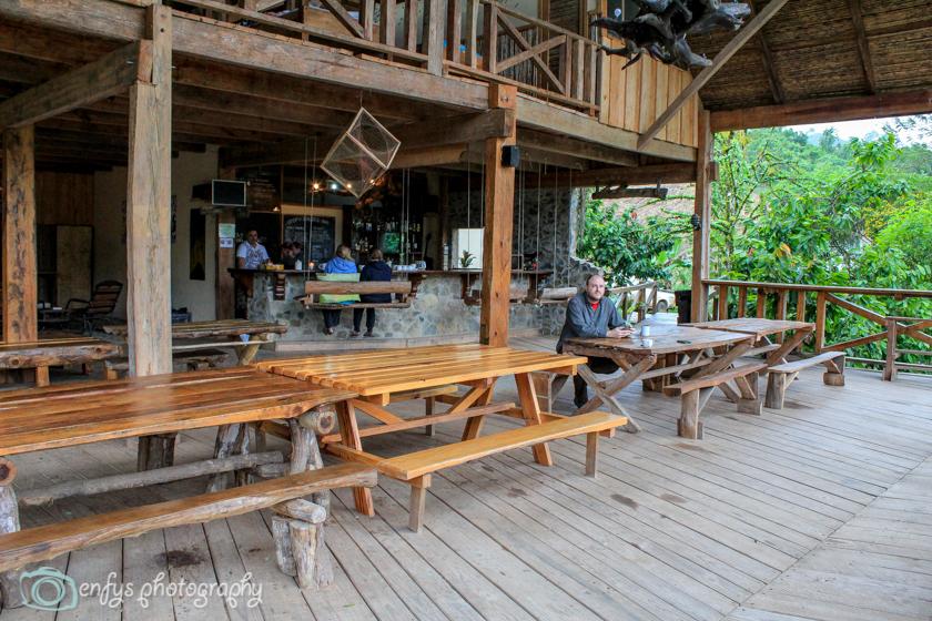 Restaurant Area & lookout deck  -  Utopia Eco Hotel- Alta Verapaz, Guatemala