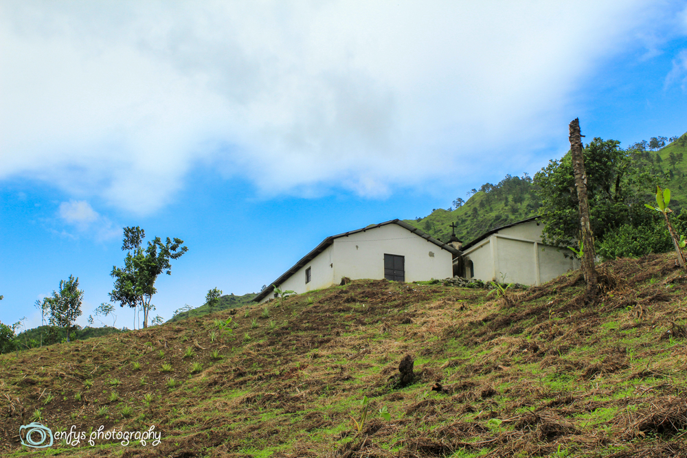 A church within a valley -Alta Verapaz, Guatemala