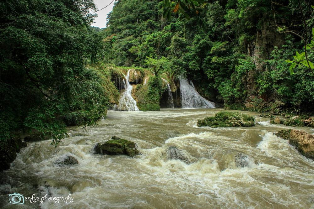 Waterfall rapids  -Semuc Champey, Guatemala
