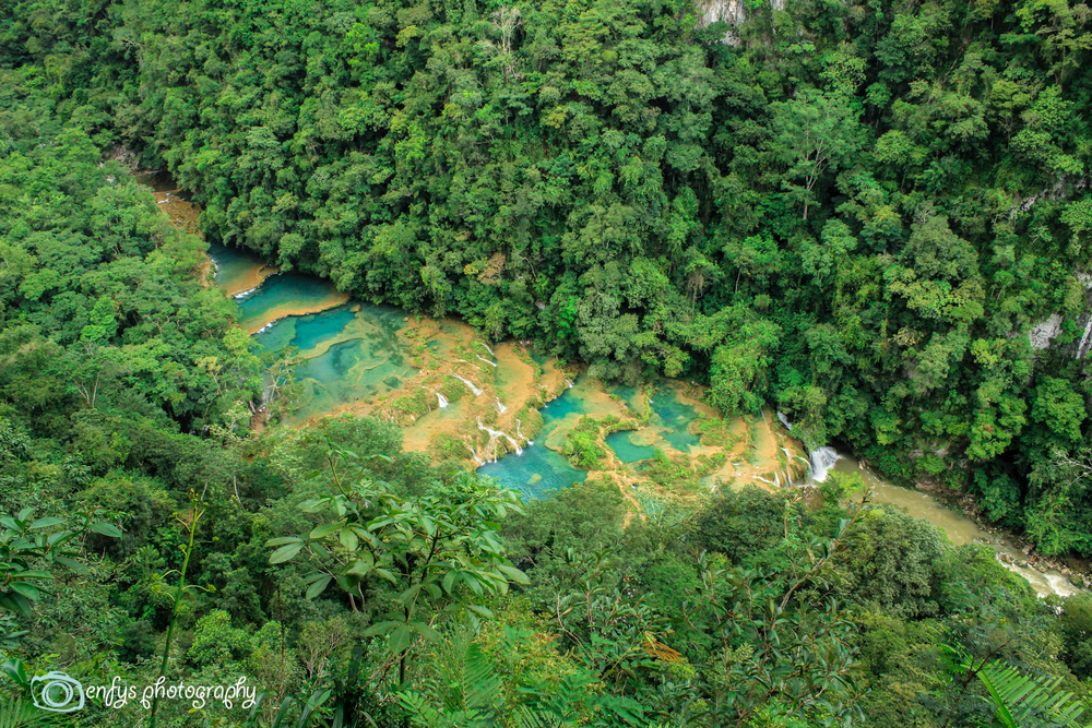 View from the lookout! (Click to enlarge) -Semuc Champey, Guatemala