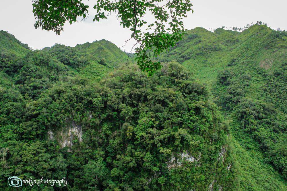 Mountains surrounding the pools  -Semuc Champey, Guatemala