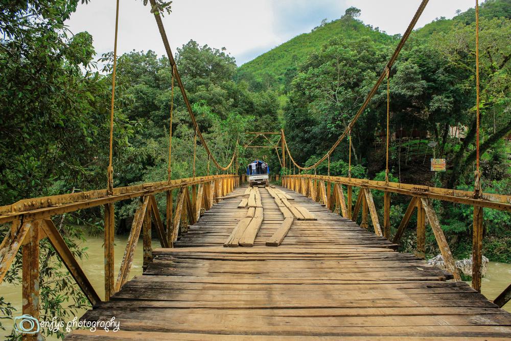 The bridge over the Cahabón River - Semuc Champey, Guatemala