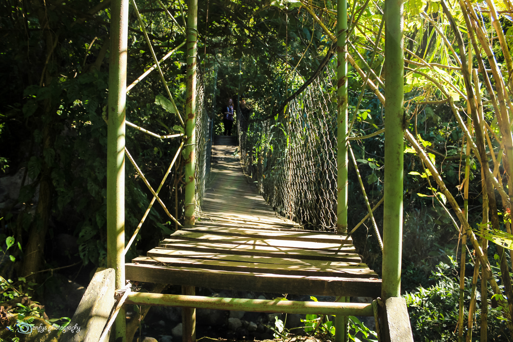 One of many rustic bridges -Atitlan Nature Reserve - Panajachel, Guatemala
