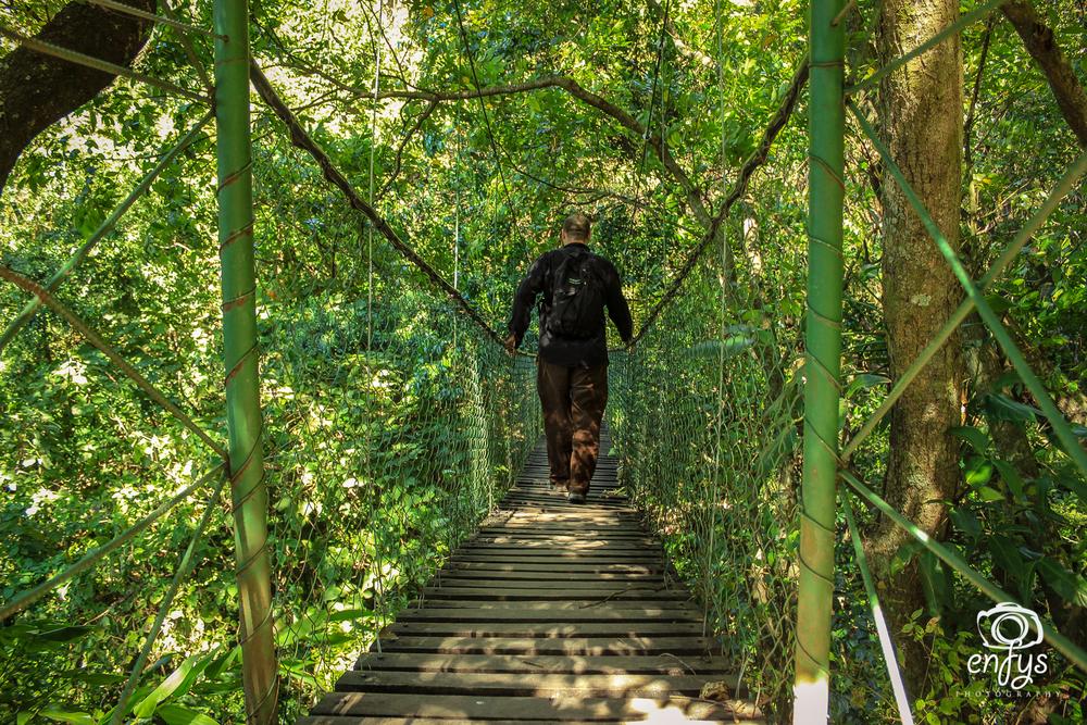 Steve, suspended (Click to enlarge) -Atitlan Nature Reserve - Panajachel, Guatemala
