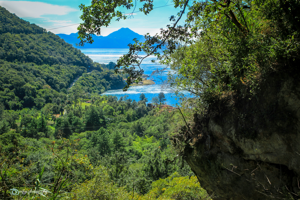 A lovely view of the reserve and Lake Atitlan -Atitlan Nature Reserve, Panajachel, Guatemala