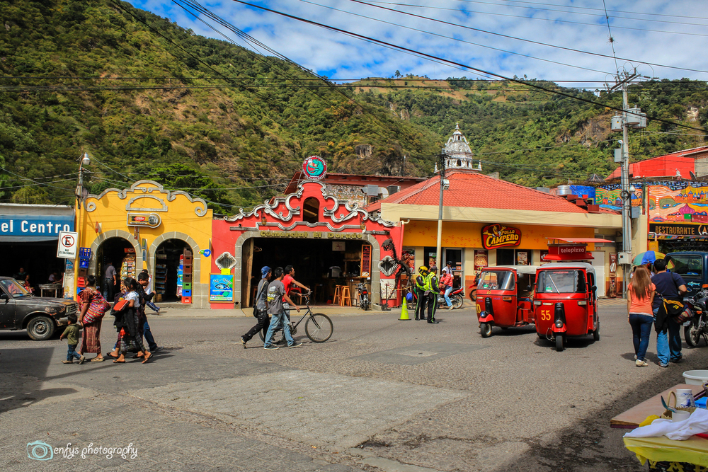 Where the two main streets meet -Panajachel, Guatemala