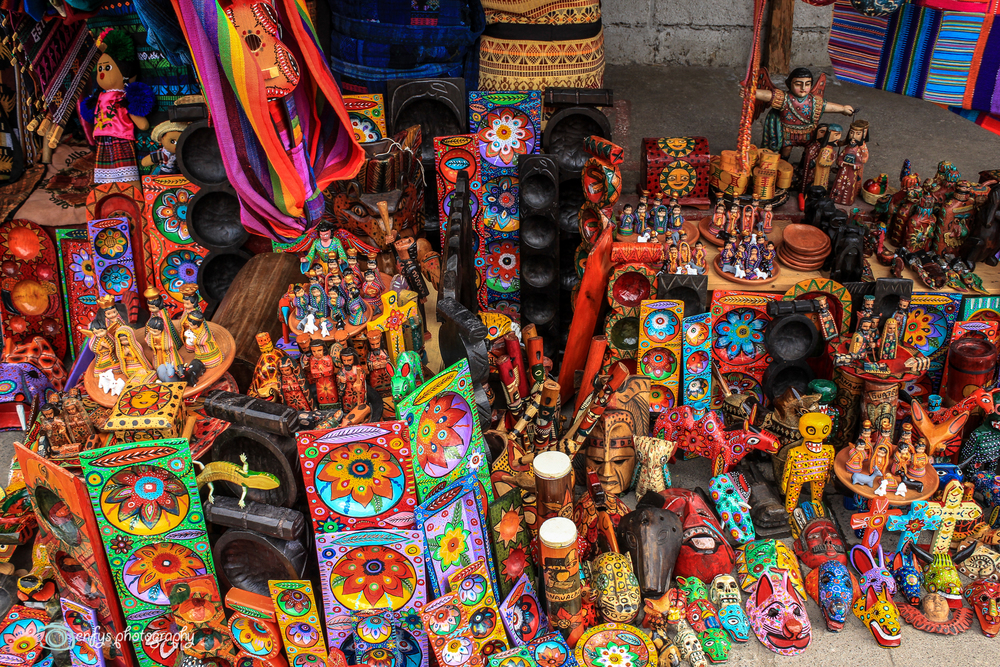 One of the many vendors along the streets -Panajachel, Guatemala
