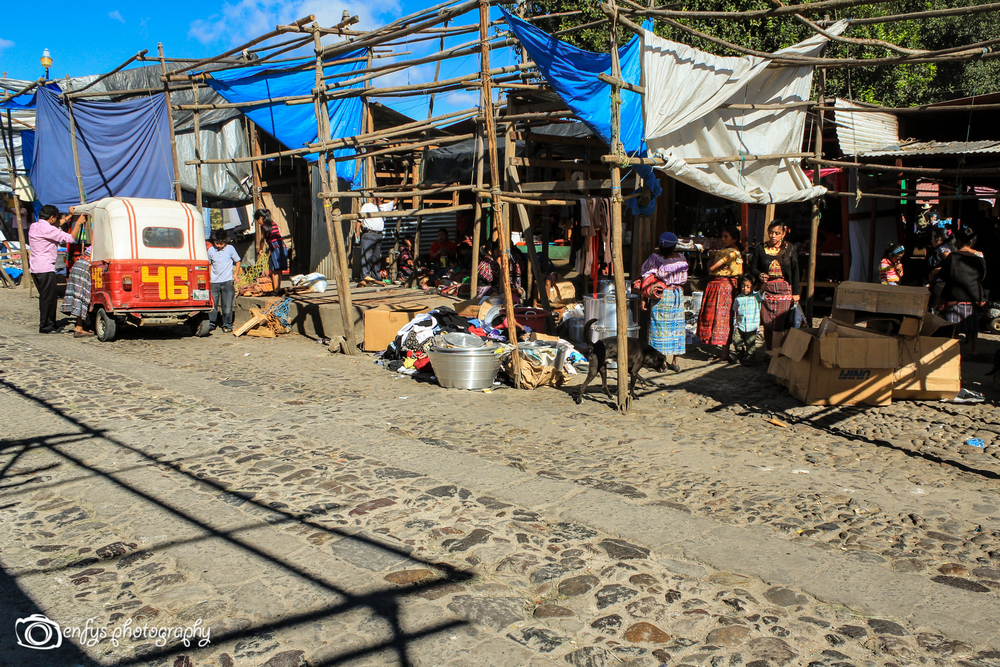 Vendor stalls in the market  -Chichicastenango, Guatemala