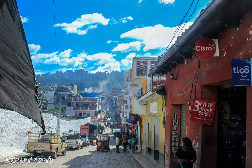 One of the main streets  -Chichicastenango, Guatemala