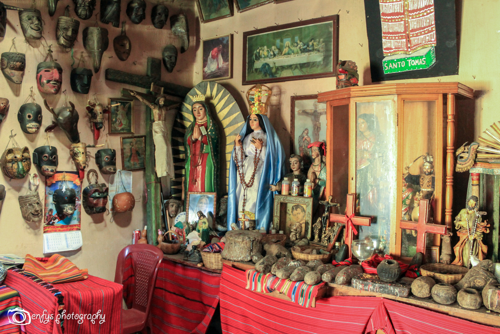 Inside the mask shack  -Chichicastenango, Guatemala
