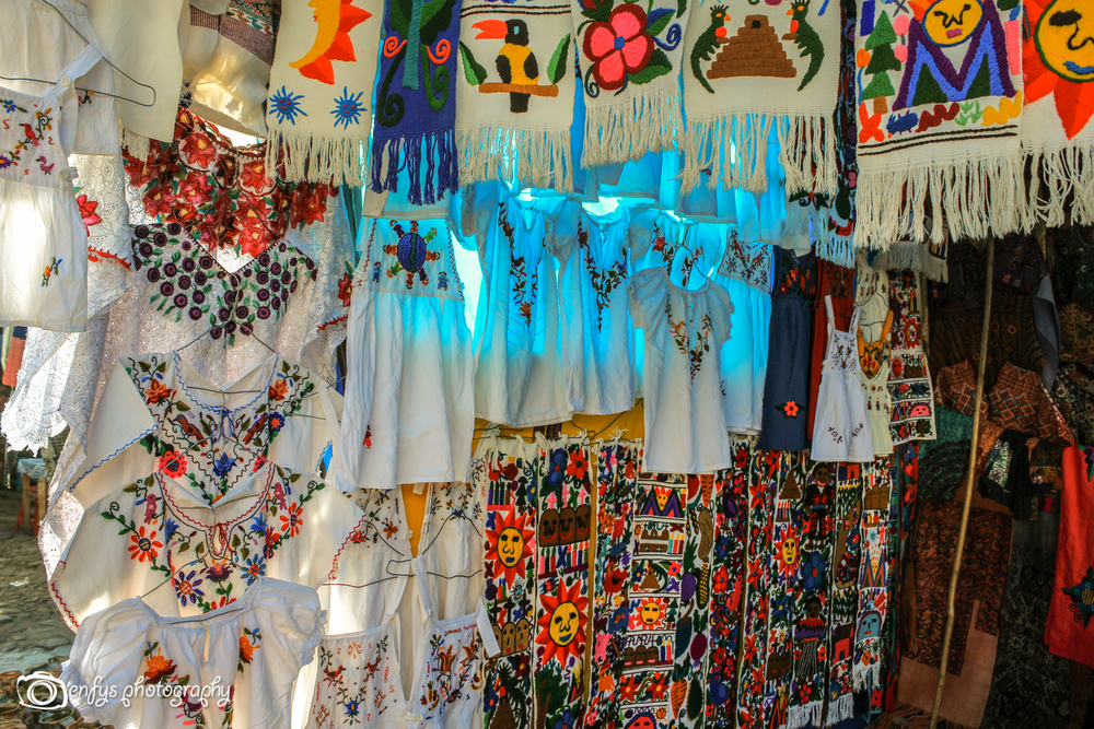 Lovely embroidered shirts at the market (Click to enlarge) -Chichicastenango, Guatemala