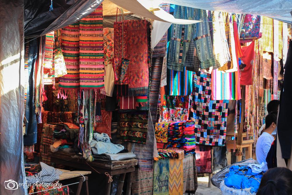 Market stalls  -Chichicastenango,  Guatemala