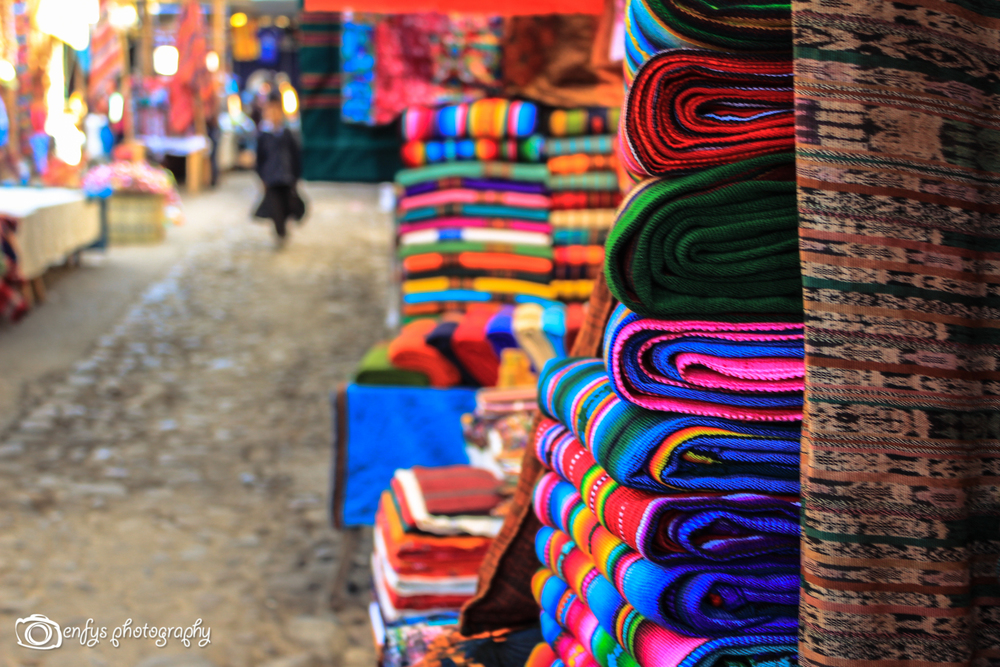 Hand woven goods at the market -Chichicastenango, Guatemala
