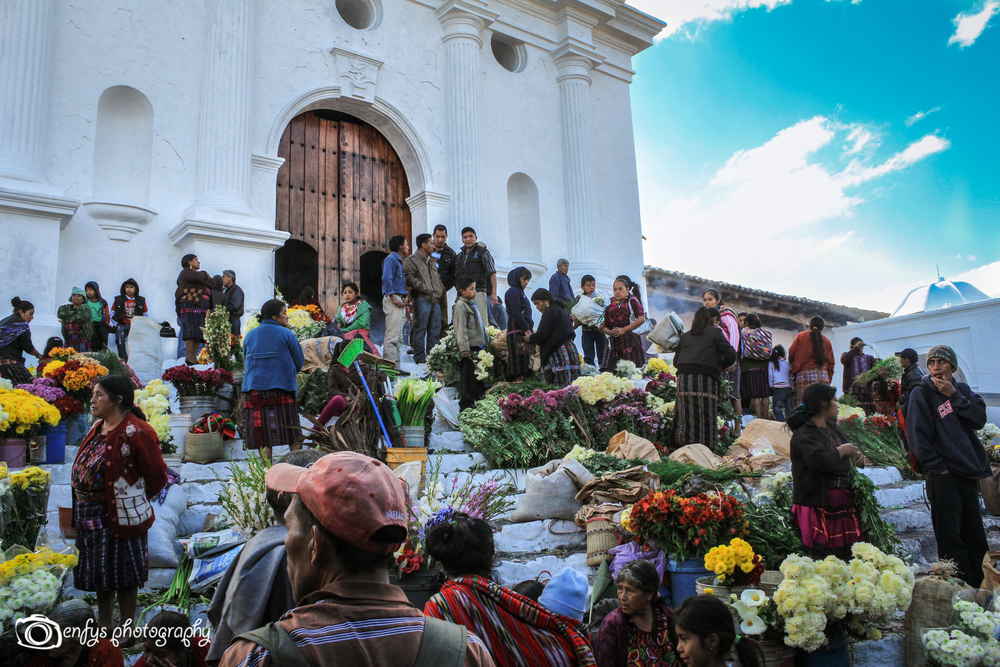 Steps of Santo Tomas Church -Chichicastenango, Guatemala