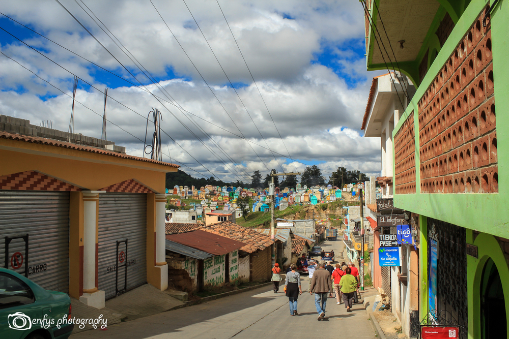 Streets towards the Cemetery -Chichicastenango, Guatemala