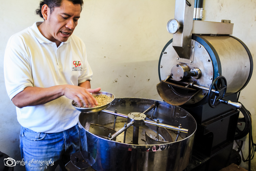 Coffee making process -San Pedro la Laguna, Guatemala