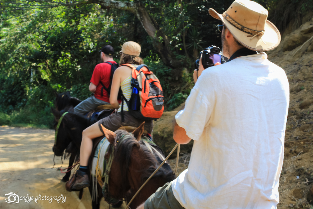 It's hard taking photos on horseback!  -San Pedro la Laguna, Guatemala