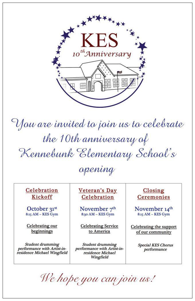 KES 10 Year Invitation