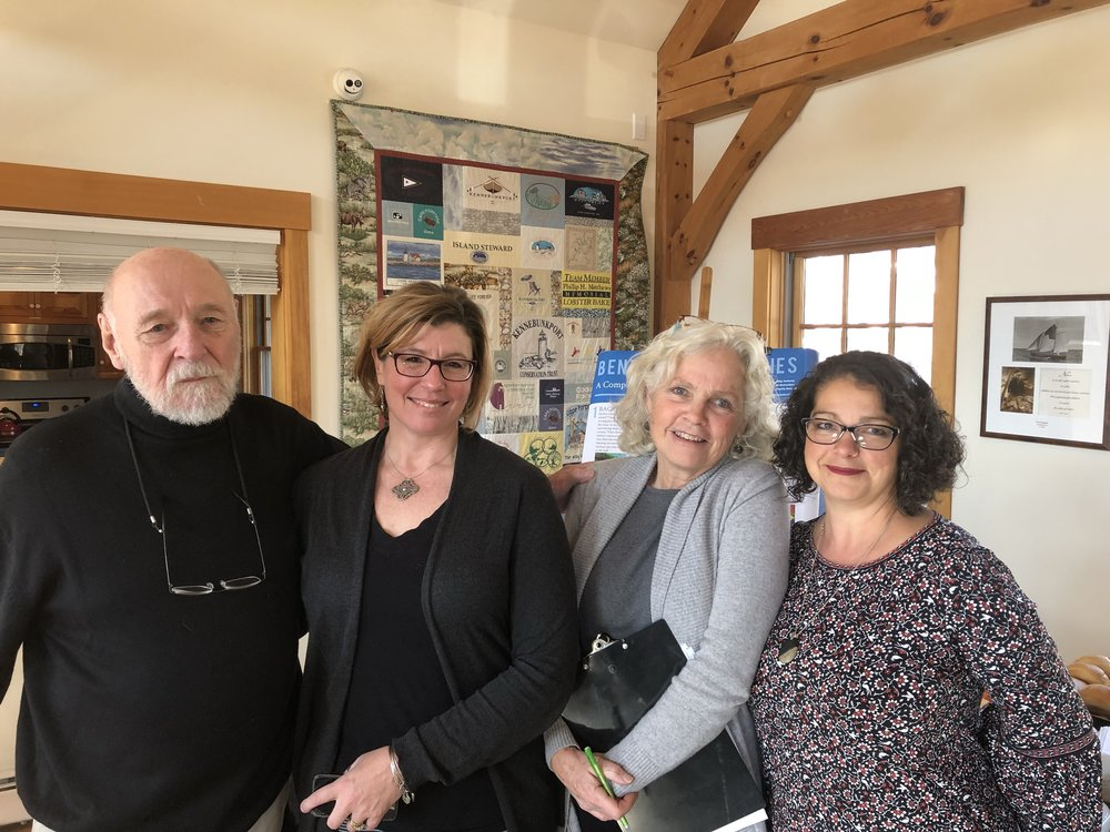 John Terry, President at Gulf of Maine Institute - Leia Lowry, Kennebunkport Conservation Trust, Director of Education - Dr. Pam Morgan, University of New England and Melissa Luetje, KHS Teacher