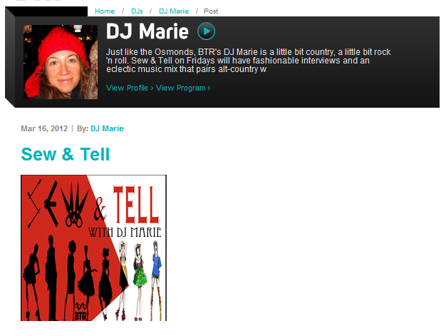 Sew & Tell Radio Interview