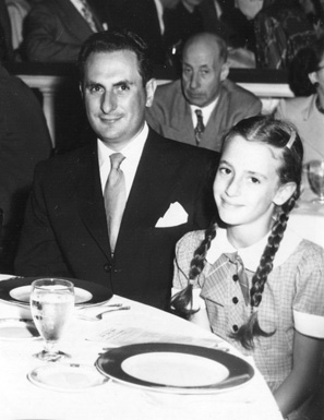 Wendy Morton and her father, circa 1949