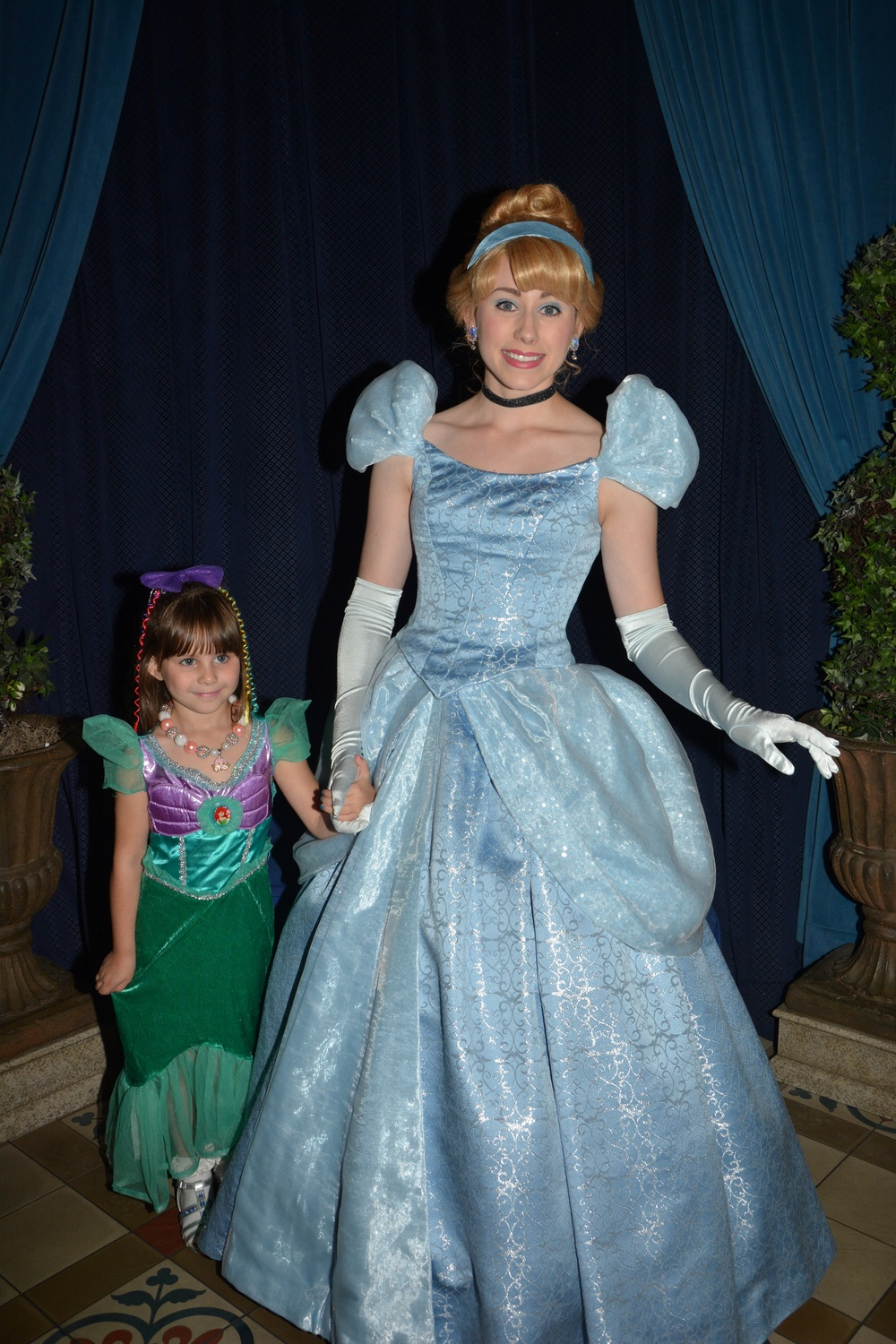Emery meeting Cinderella as we Entered Cinderella's Castle