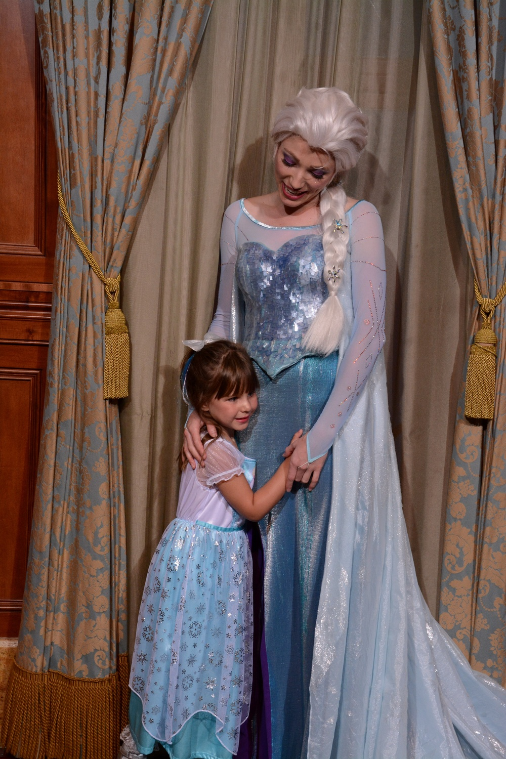 There is a typical 90-minute wait to meet Anna & Elsa. We used a Fast Pass to meet the Queen & Princess...totally Worth it!