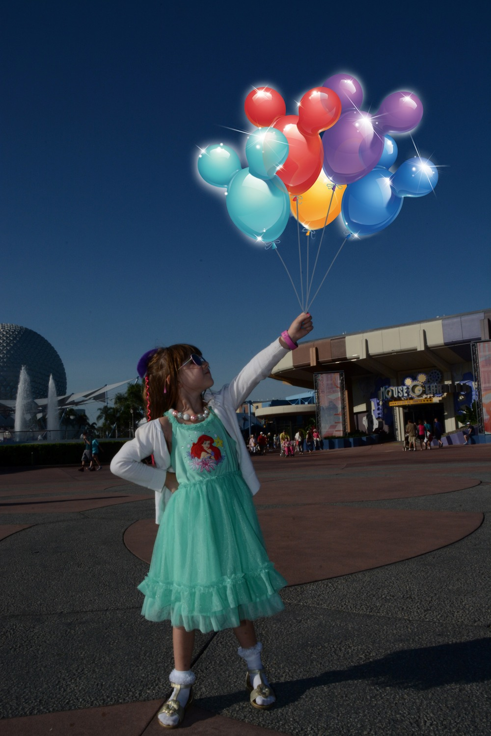There's so much magic at Disney that you might even float to where you're going!