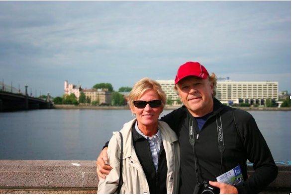 Mom and Dad supporting me at the 2014 Riga Marathon in Riga, Latvia.
