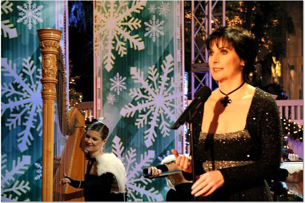 With Enya at the Rockefeller Center Tree Lighting Ceremony