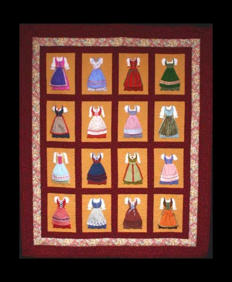 German Dress Quilt Workshop - Sept. 8-9, 15-16