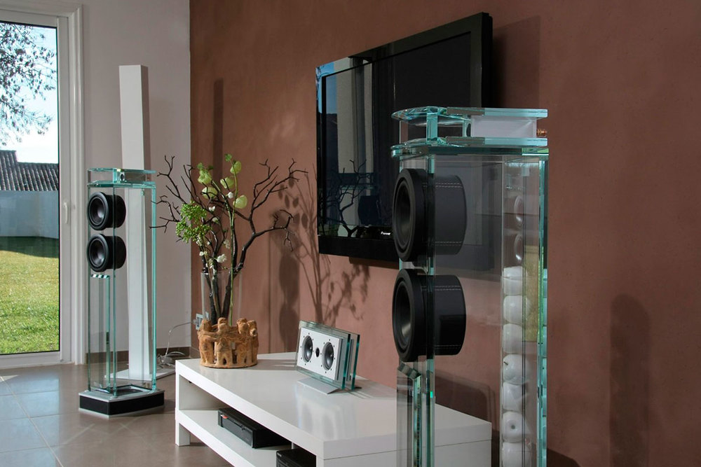 Waterfall Glass Speakers