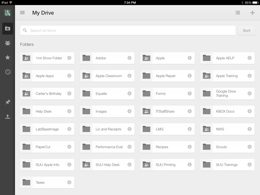 Google Drive on iOS