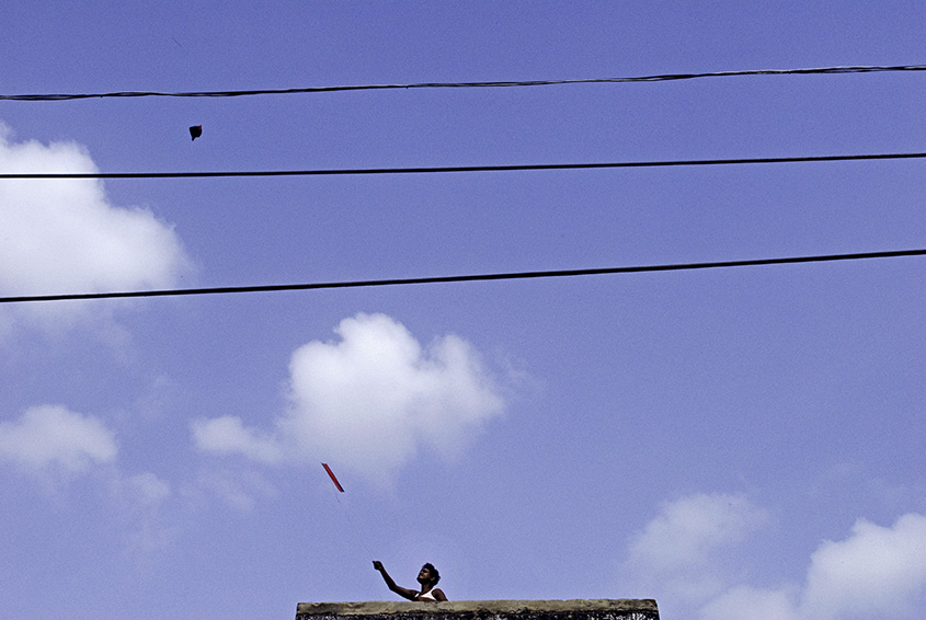 Kite Flying, Old Delhi, India