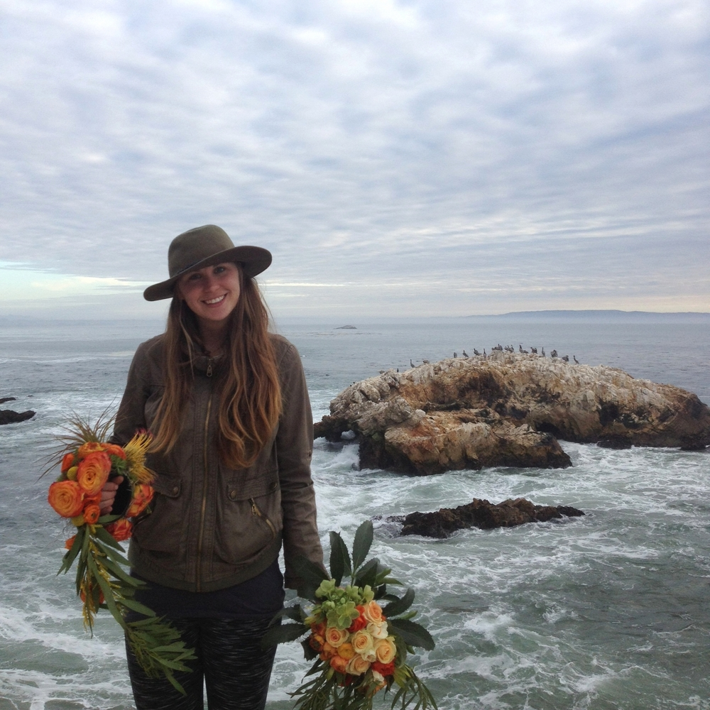 Malorie Rose Alene on a location shoot at Pirate's Overlook in Pismo Beach, CA.