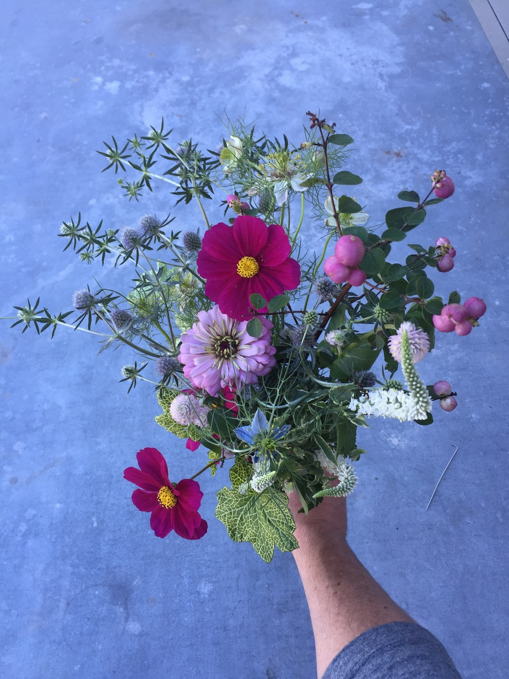 Wildflower bridal bouquet.