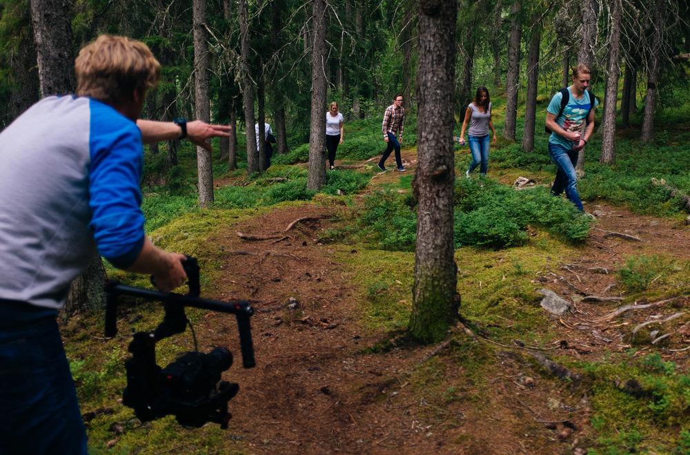 På väg upp för Digerberget, I skogarna utanför Hotell Dalecarlia, Tällberg