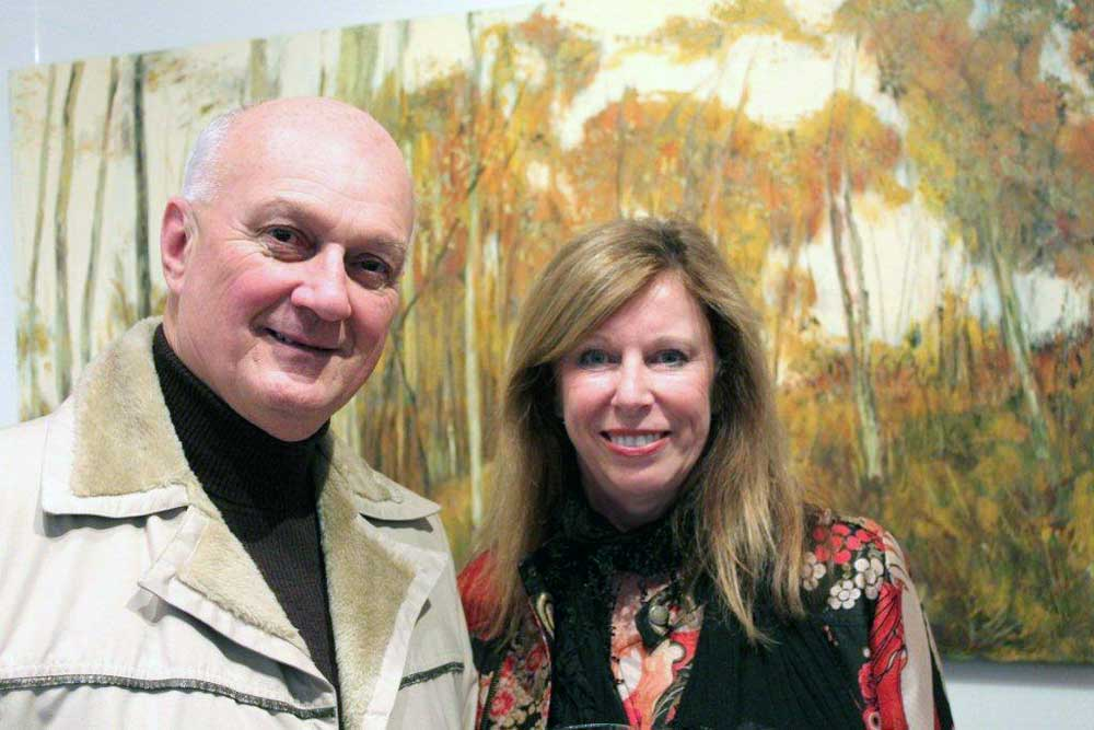 William Cassidy & Amanda Louth in front of Narooma Landscape